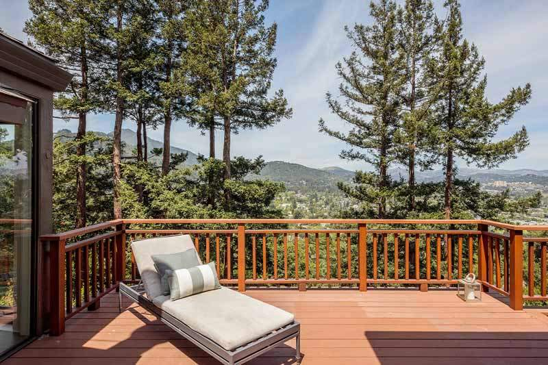 Upper deck and view of Mt. Tam, 10 Woodhue Lane