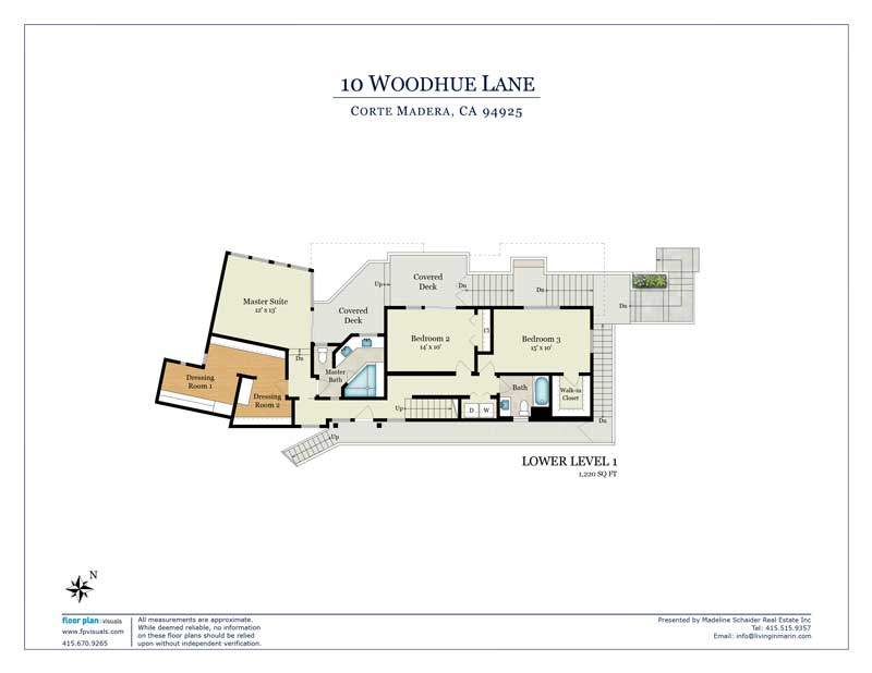 Floor plan for lower level, 10 Woodhue lane