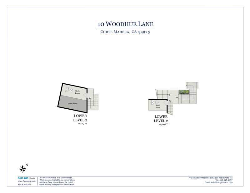 Floor plan for storage areas below 10 Woodhue lane