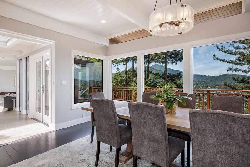 Dining room with view of Mt. Tamalpais,  10 Woodhue Lane