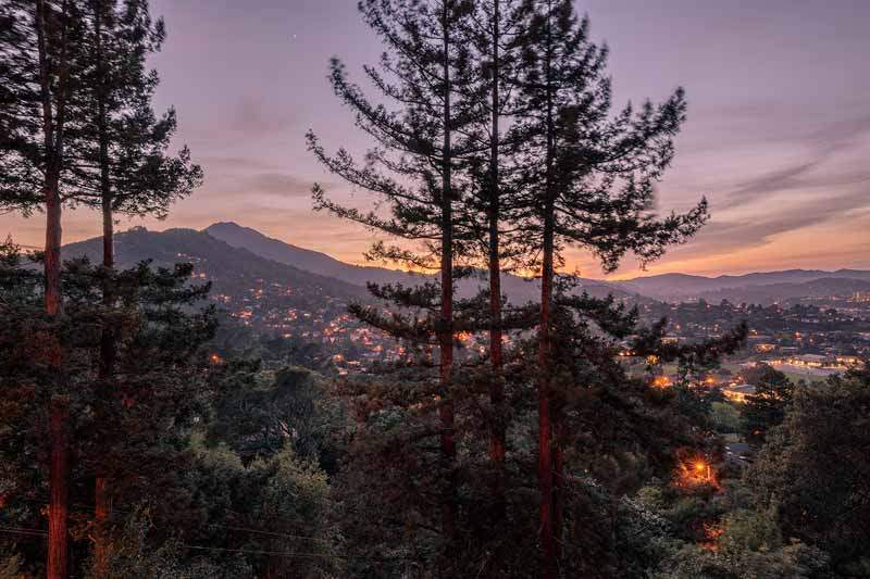 Twilight view of Mt Tam, 10 Woodhue Lane