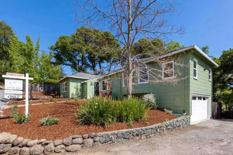 Front of house, 12 Brookmont Circle, San Anselmo, CA