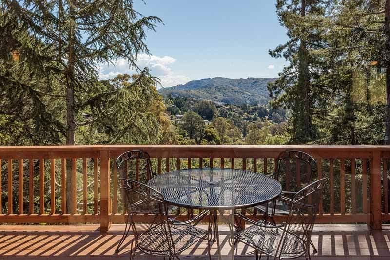 Upstairs deck at 1220 El Cide Ct, Mill Valley, CA