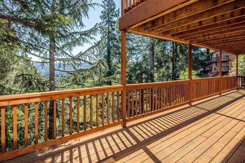 Lower deck at 1220 El Cide Ct, Mill Valley, CA