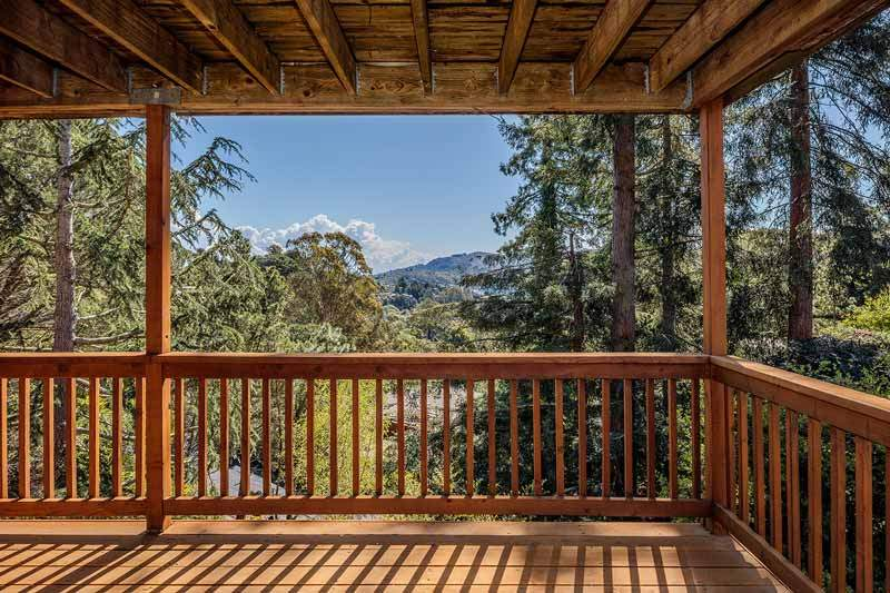 View from Lower deck at 1220 El Cide Ct, Mill Valley, CA