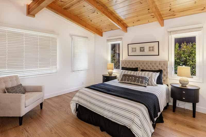 Master bedroom at 1220 El Cide Ct, Mill Valley, CA