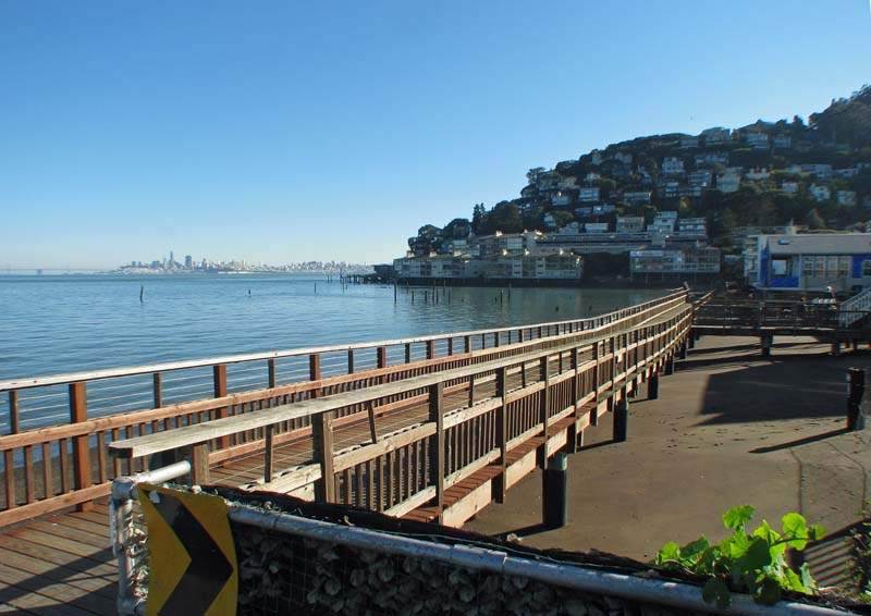 Valley Street Boardwalk and Swede's Beach, Sausalito, CA