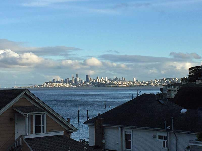 View from living room of 217 Richardson St, Sausalito, CA