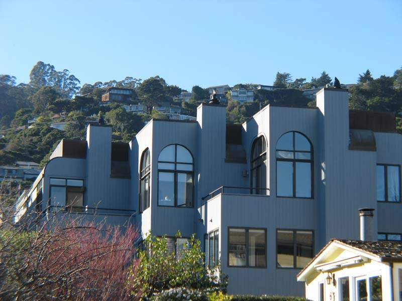 Whalers Cove town homes with Sausalito hills