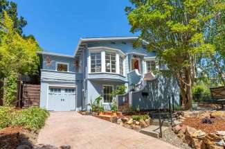 Charming 1924 Bungalow on Lower Palm Hill, Larkspur