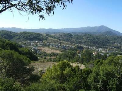 Corte Madera from top of Granada Dr