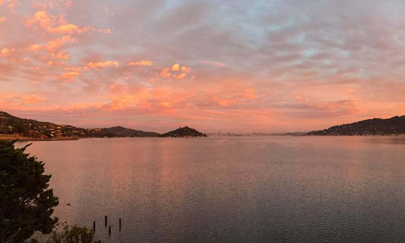 Sunset on Richardson Bay, Tiburon, CA