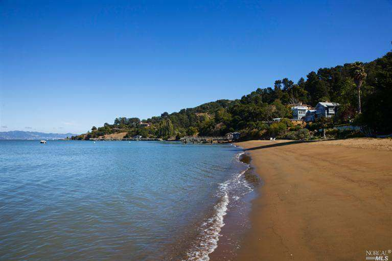 Private beach on Paradise Drive, Tiburon, CA