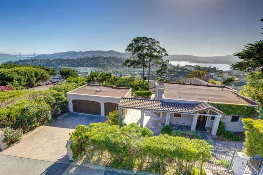 Hillside home, Tiburon, CA