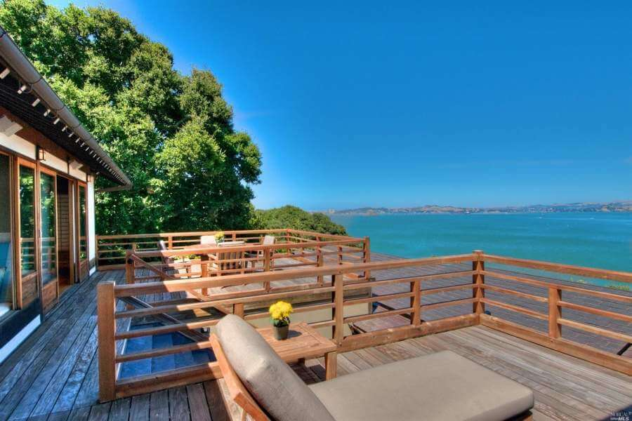 Waterfront home on Paradise Dr, Tiburon, CA