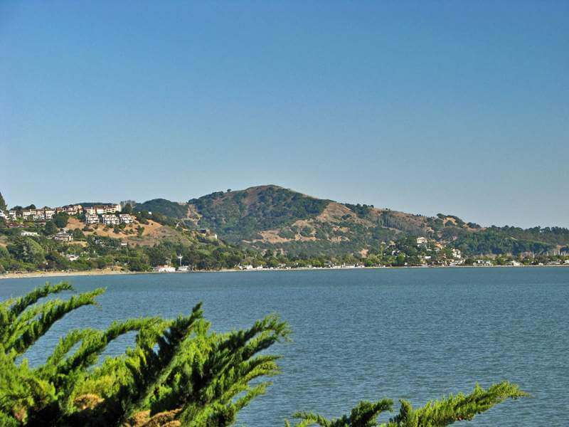 Tiburon and Angel Island from Greenwood Beach Road