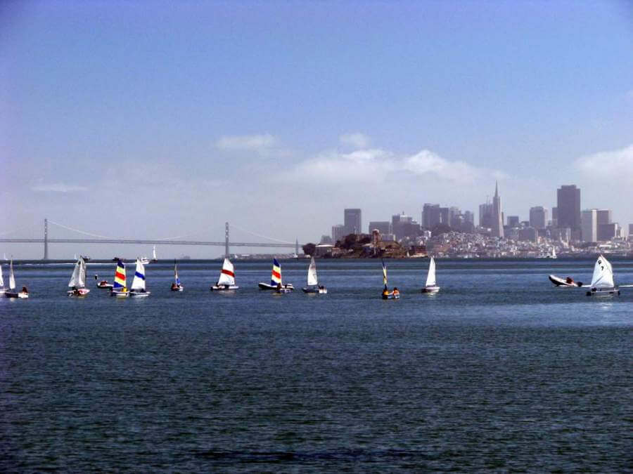 San Francisco from downtown Tiburon, CA
