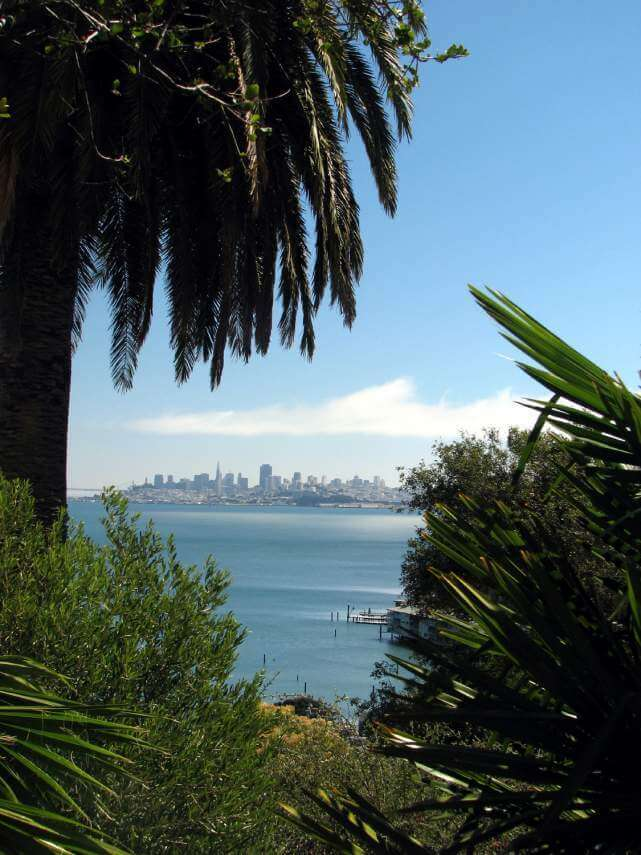 San Francisco skyline and bay from Sausalito
