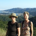 Madeline Schaider and Suzannah Rose on the Christmas Tree Hill Walk