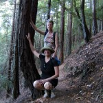 Madeline Schaider hiking in the Redwoods
