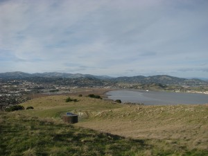 View of San Pablo Bay from Corte Madera, CA