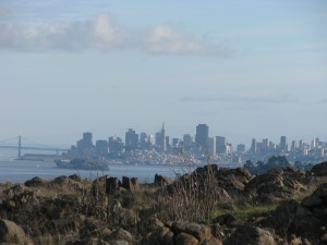 San Francisco skyline from Ring Mountain, Corte Madera, CA