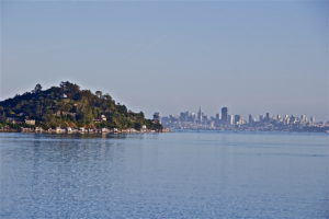 View of San Francisco from Bay in Marin County