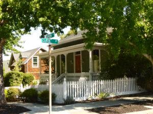 Victorian cottage in Gerstl;e Park, San Rafael, CA