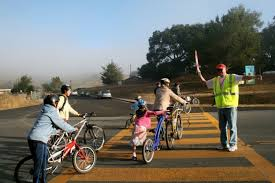 Biking to School in Marin