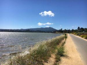 Tiburon Bay Trail with views of Richardson Bay and Mount Tamalpais