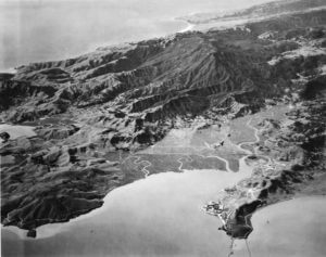 Aerial View of Marin County from 15,000 feet, 1920's