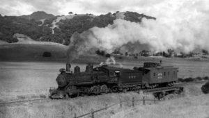 Steam locomotive in east Corte Madera, CA