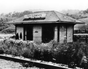 San Clemente rail station in east Corte Madera, CA