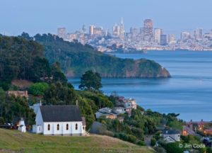 Living in Tiburon CA: Old St. Hilary's Church