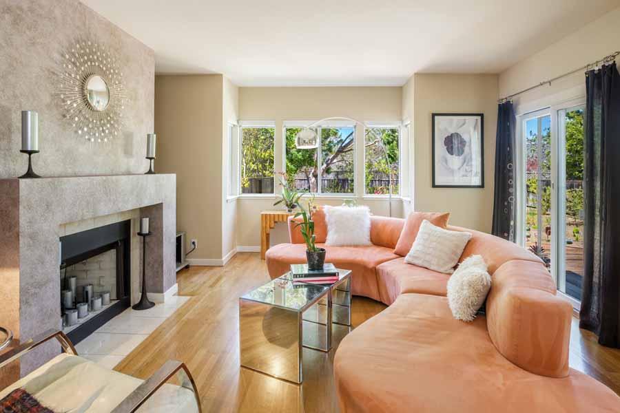 48 Parkview Circle Living Room, Corte Madera, CA