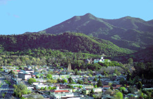 San Anselmo CA with view of Mt Tamalpais