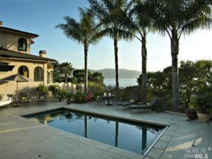 Tiburon home with pool and Bay View