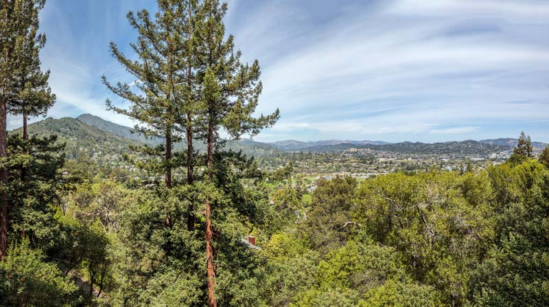 Panoramic view from 10 Woodhue Lane, Corte Madera, daytime