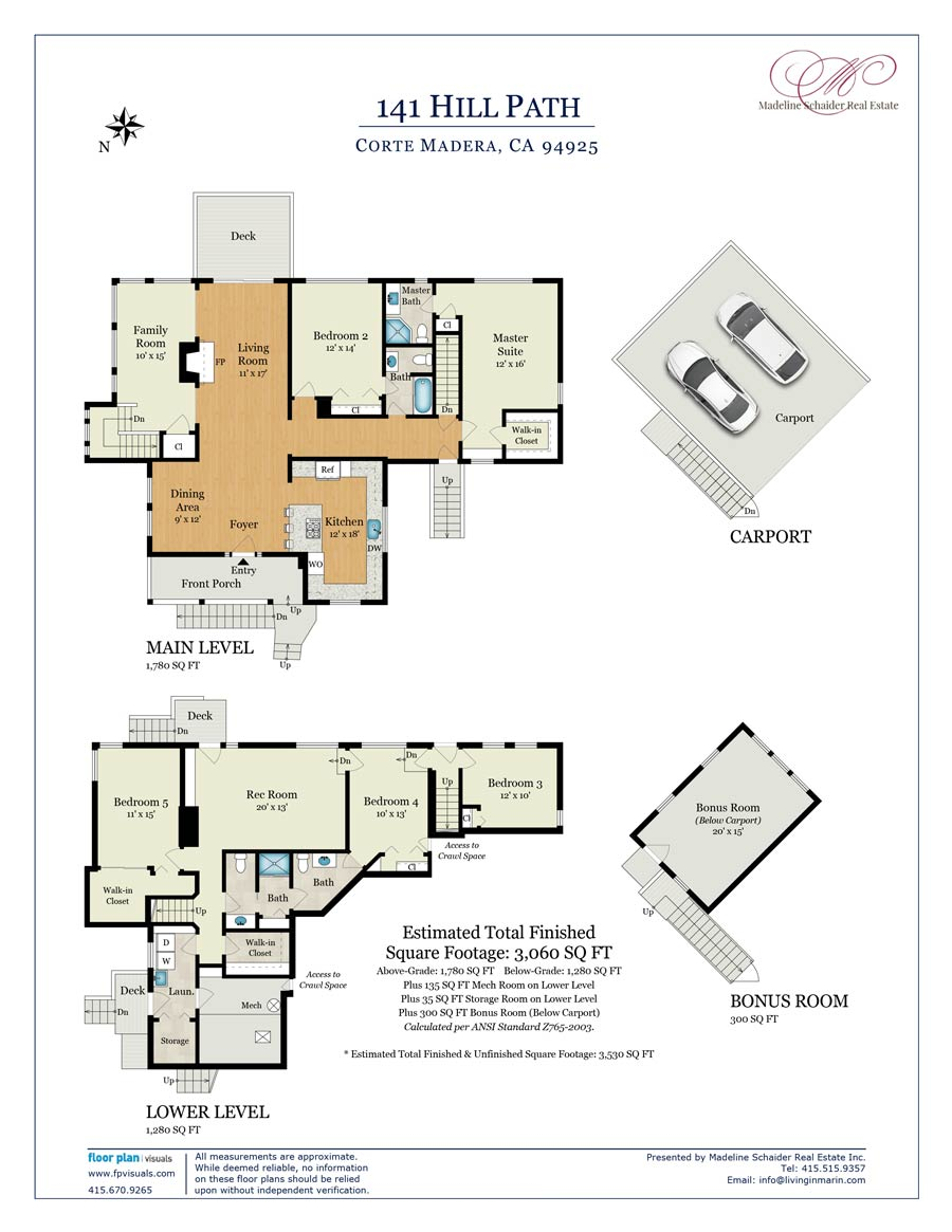 Floor plan 141 Hill Path, Corte Madera