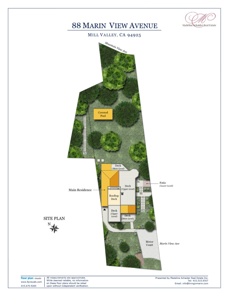 88 Marin View Ave, Mill Valley Site Plan