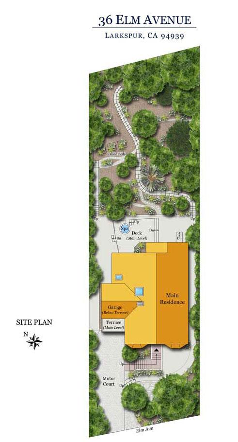 Site Plan for 36 Elm Ave, Larkspur, CA