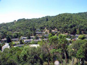 Glenwood houses on hillside, San Rafael, CA